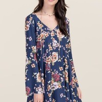 Darcie Floral Bell Sleeve Shift Dress