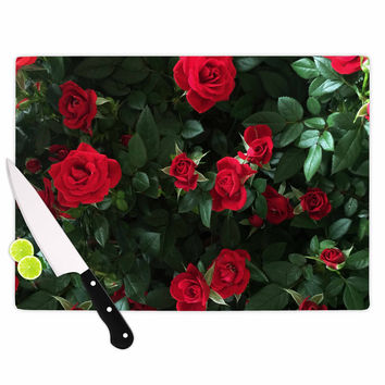 "Chelsea Victoria ""Juliets Garden "" Red Floral Cutting Board"