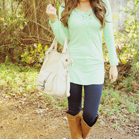 Great Escape Top: Sea Green
