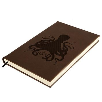 Octopus Brown Leatherette Journal