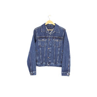 TOMMY HILFIGER denim jacket - vintage trucker jean jacket - small