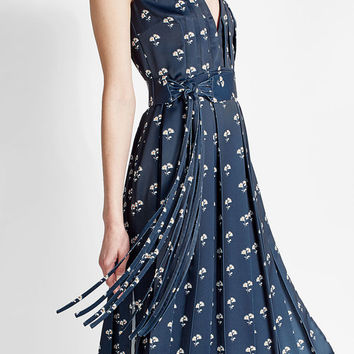 Printed Crepe Dress - Victoria Beckham | WOMEN | US STYLEBOP.COM