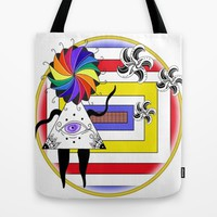 Greetings Tote Bag by Fruit Of Phalanges | Society6