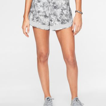 Printed Mesh Racer Run Short 4"