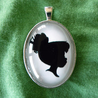 Tinker Bell Silhouette Disney Cameo Pendant Necklace