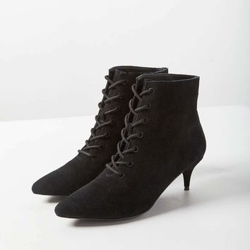 Aria Lace-Up Kitten Heel Boot