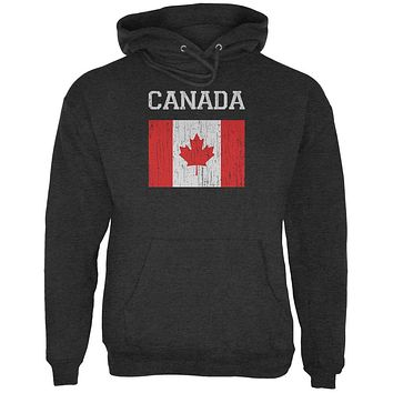 World Cup Distressed Flag Canada Mens Hoodie
