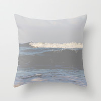 Stormy Throw Pillow by Courtney Burns