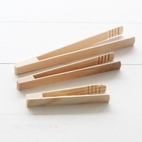 Kitchen Beechwood Tongs