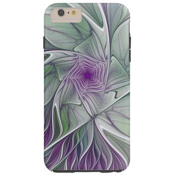 Flower Dream, Abstract Purple Green Fractal Art Tough iPhone 6 Plus Case