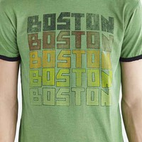 Body Rags Boston Ringer Tee- Bright Green