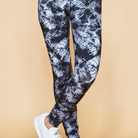 TIE DYE MESH PANEL ENERGY LEGGING