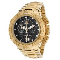 Invicta 17625 Men's Subaqua Noma V Black Dial Yellow Gold Steel Bracelet Chronograph Dive Watch