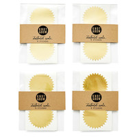 Starburst Seal Packs, Gold, Set of 4, Labels & Tags