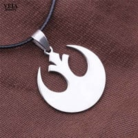 New Star Wars Rebel Alliance Statement Necklace Silver Plated lover's Movie Starwars Pendant Necklace Collares
