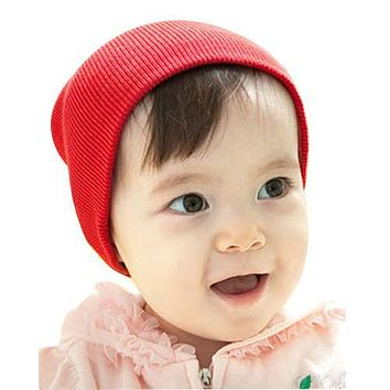 1 PC 9 Color Soft New Unisex Baby Girl Boy Toddler Infant Newborn Cotton Crochet  Knitted Beanie Hat Soft Winter Autumn Warm Cap