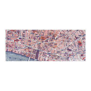 "Alison Coxon ""City Of London"" Map Bed Runner"