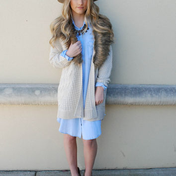 Heartloom - Velma Sweater Cardigan - Sand