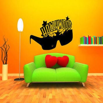 Hollywood Wall Decal Hollywood Sticker Movie Star Room Living Room Decor 3738