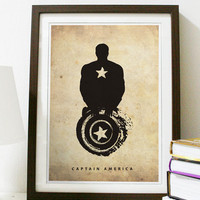 Captain America Poster A3 Print