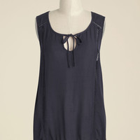 Think Tanka Tank Top in Charcoal | Mod Retro Vintage Short Sleeve Shirts | ModCloth.com