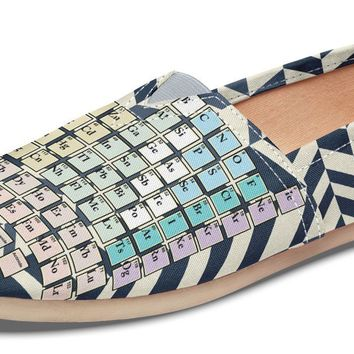 Periodic Table Chevron Casual Shoes