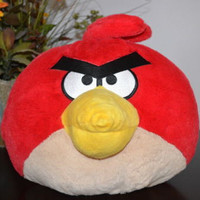 "Angry Birds Big Plush Pillow Makes Noise when Pressed Stuffed Animal 10"" Large"