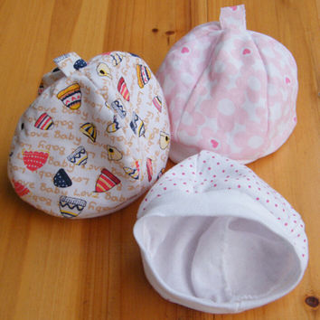 Unisex Cotton Newborn Infant Baby Girl Hat Cap Thermal Soft Pocket Baby Clothing