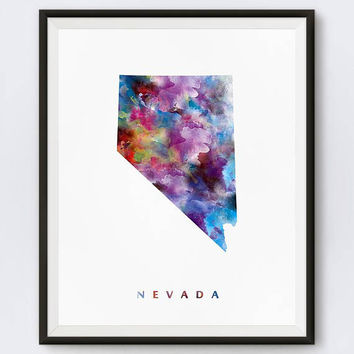 Nevada Map, Art Print, Carson City, Poster, Home Decor, Urban, Travel Map, State Map, Map Print, Download, Gift, Wall Art