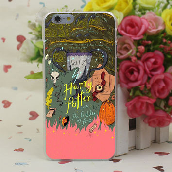 Harry Potter and the Goblet of Fire Sticker Case Cover for iPhone 4 4S 5 5S SE 5c 6 6s 7 7 Plus