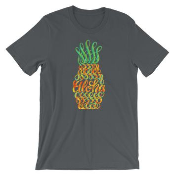 Pineapple T-Shirt Aloha Hawaii, Shipping Included!