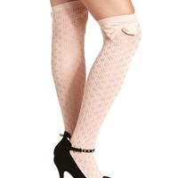 Bow Top Pointelle Sock: Charlotte Russe