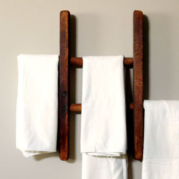 Primitive Wooden Towel Display Rack