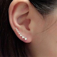 Elegant Women Fashion Rhinestone Earrings Ear Hook Stud Jewelry Gift = 1958182468