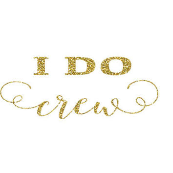 I Do Crew Iron On Vinyl - DIY Vinyl Heat Transfer - Glitter Iron On - 5 Colors -  DIY Bridal Party Shirt  - Glitter Vinyl Iron On