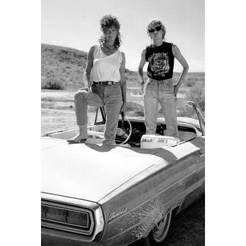 Thelma And Louise poster Metal Sign Wall Art 8in x 12in Black and White