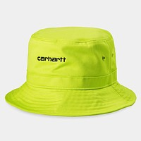 Script Bucket Hat in Lime