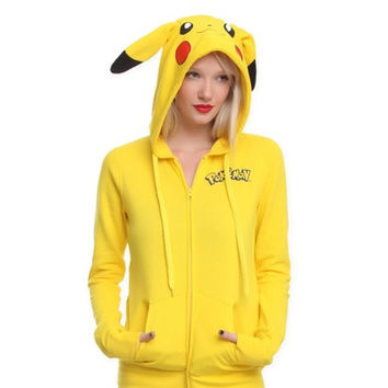 Women's Men's Novelty Animal Anime Picachu /pokemon Autumn & Winter Sweatshirt Sport Suit Hoodie Outside Woman [8323380673]