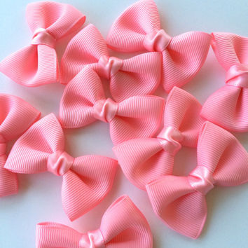10 bow ties appliques,grosgrain bow applique,embellishment,card making,home decor,weddings,hair bows,scrapbooking,sewing,floral arrangements