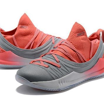Under Armour Ua Curry 5 Pink/gray Basketball Shoe