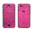 The Pink Sparkly Glitter Ultra Metallic Apple iPhone 6 LifeProof Nuud Case Skin Set
