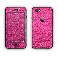 The Pink Sparkly Glitter Ultra Metallic Apple iPhone 6 Plus LifeProof Nuud Case Skin Set