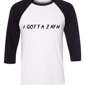 "Zayn Malik / One Direction ""I Gotta Zayn"" Baseball Tee"