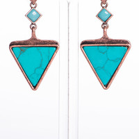 Ancient Aztec Earrings, Turquoise