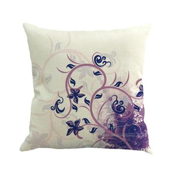 Flower  Painting Linen Cushion Cover Throw Pillow Case Sofa Home Decor