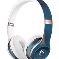 Grungy Blue Scratch Surface Full-Body Skin Kit for the Beats by Dre Solo 3 Wireless Headphones