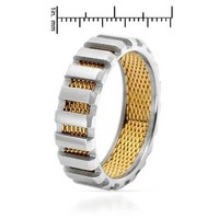 Stainless Steel Band Men's Ring