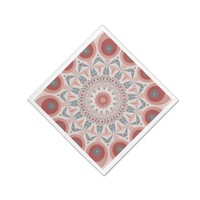 Striking Modern Kaleidoscope Mandala Fractal Art Napkin