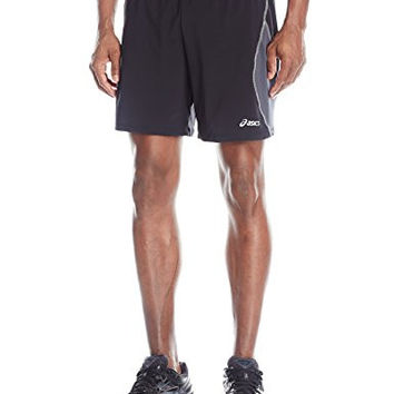 ASICS Men's Lite-Show 7-Inch Running Shorts - Black/Steel, XX-Large