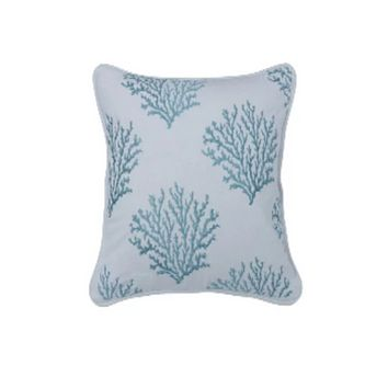 Cowgirl Kim Catalina Coral Accent Pillow~ Aqua